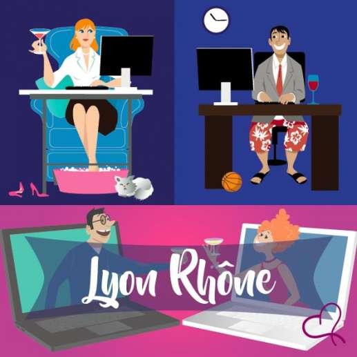 Vidéo Speed Dating à Lyon le samedi 13 mars 2021 à 21h00