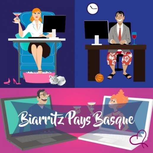 Vidéo Speed Dating au Pays Basque le samedi 17 avril 2021 à 21h00