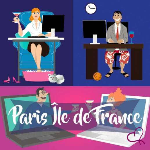Vidéo Speed Dating Paris Île de France le mercredi 28 avril 2021 à 21h15